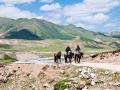 Horse riders during Amnye Machen Kora