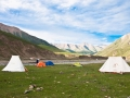 nomads tent and camping tent in Animaqing xueshan
