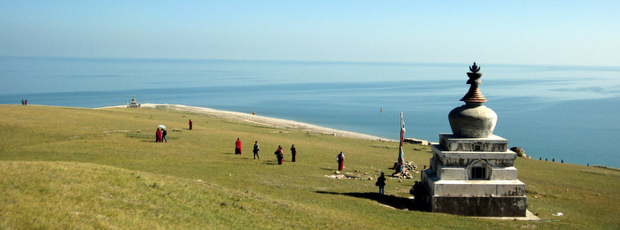 Heart of the Mountain Island in Qinghai Lake