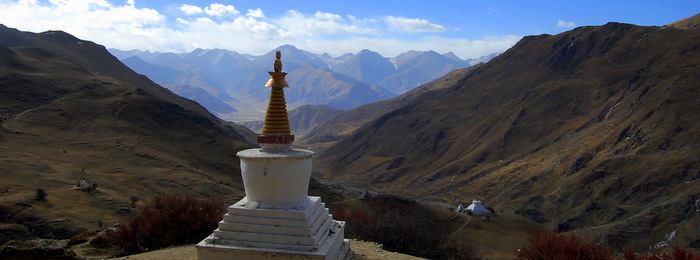 Stupa above a valley