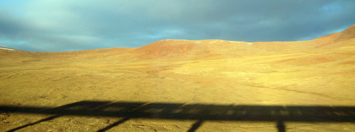 Shadow of the Train to Tibet