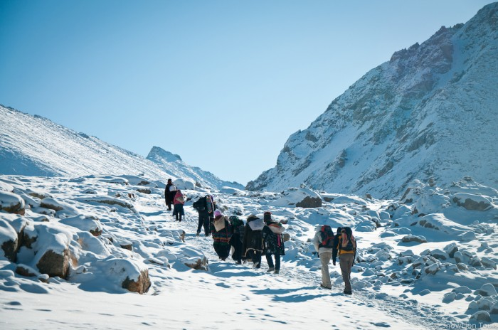 Trekking up to Dolma la pass on the Mt.Kailash Kora