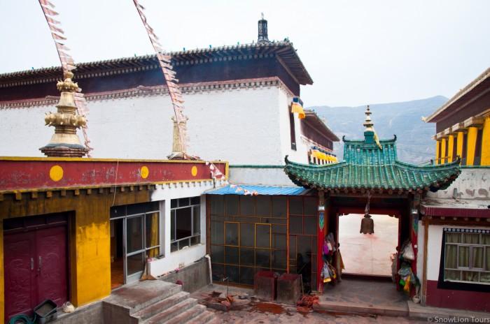 temple of Dharma protectors in Rongwu monastery, Rebkong, Amdo Tibet