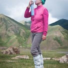 One of our customer breath oxygen during Mt.Amnye Machen trek