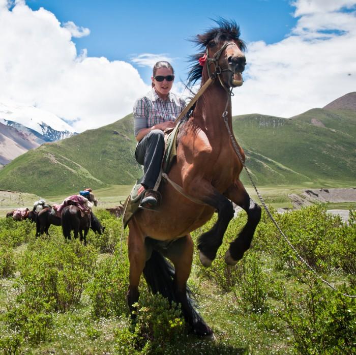 horse back client