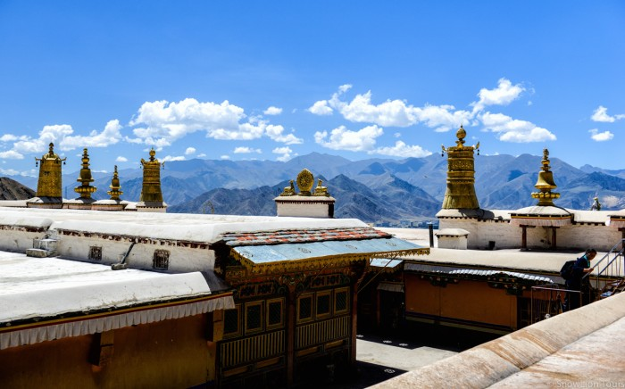 Roof of Drepung Monastery