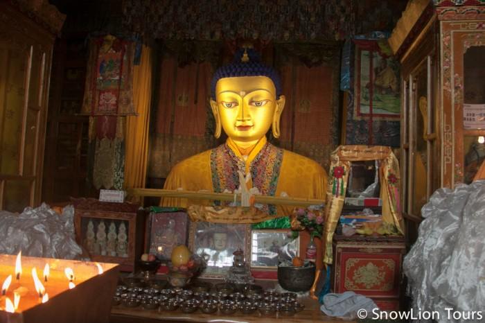 Buddha Statue in Drepung Monastery