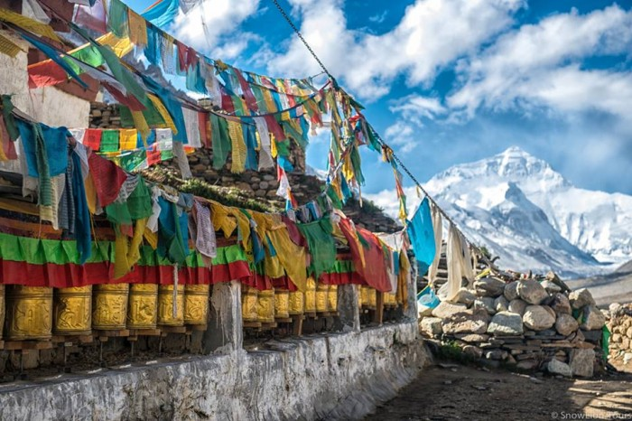 Mt.Everest with prayer flag