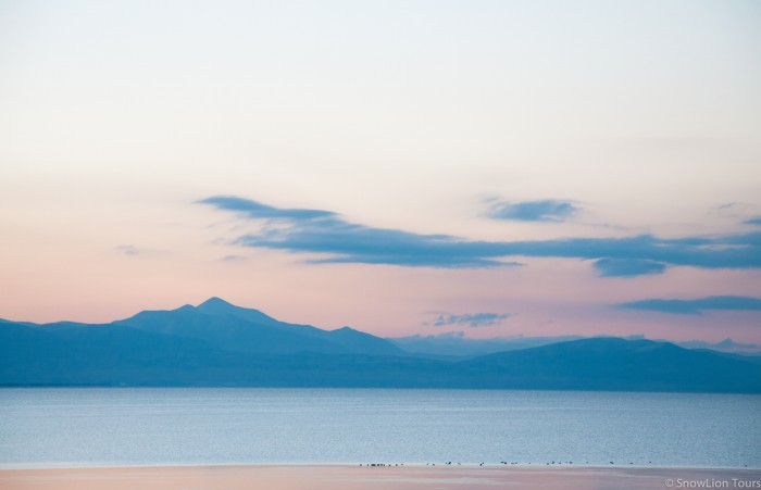 Sunrise at Manasarovar lake