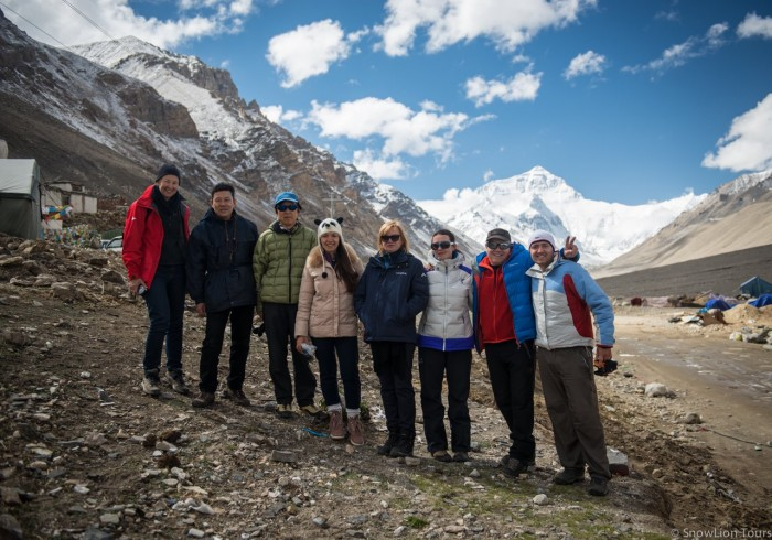 Mt.Everest and tour group
