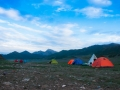tents during Ganden to Samye trek