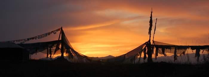 Prayer Flags at Namtso