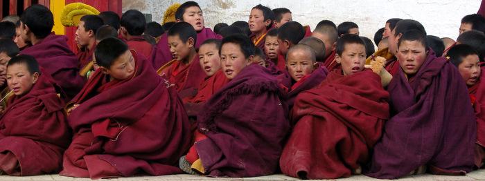 little monks in Ganden monastery