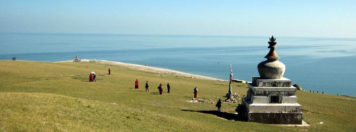 Heart of the Mountain Island in Qinghai Lake