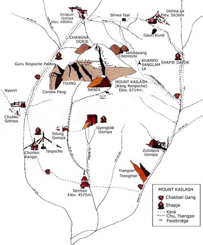 Kailash Kora Map
