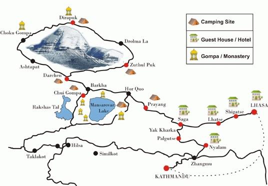 Kailash map
