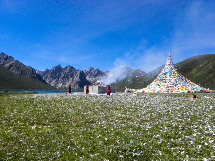 Nyambuyultse moutain and lakes in Amdo Tibet