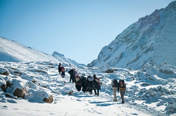 Trekking up to Dolma la pass on the Mt.Kailash Kora
