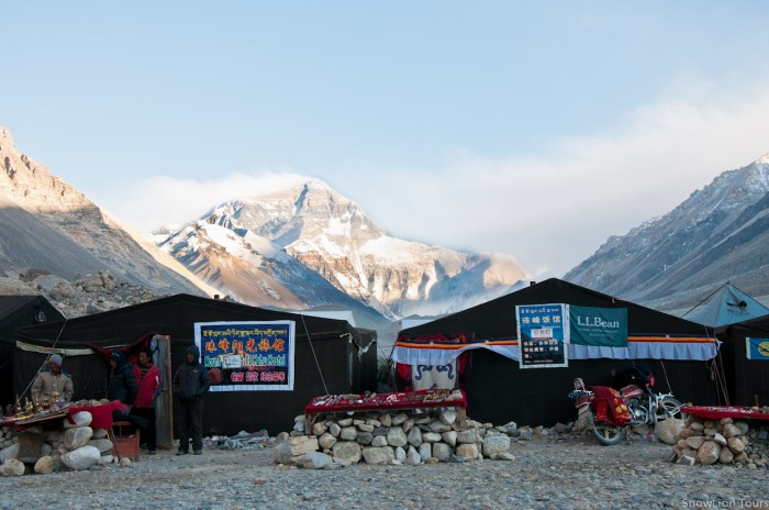 Yak hair tent guesthouse at Mt.Everest Base Camp in Tibet