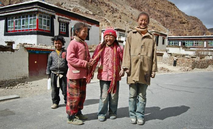 Kids from Sakya village