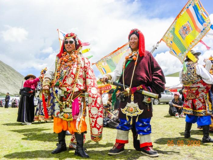 Yushu Horse festival two men