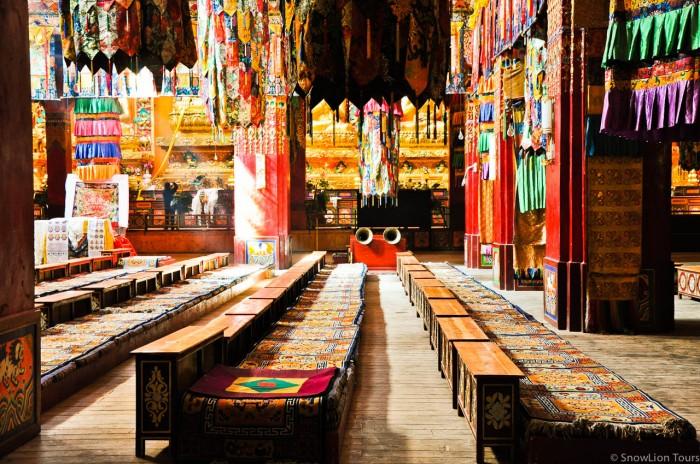 Sershul Monastery monks seats