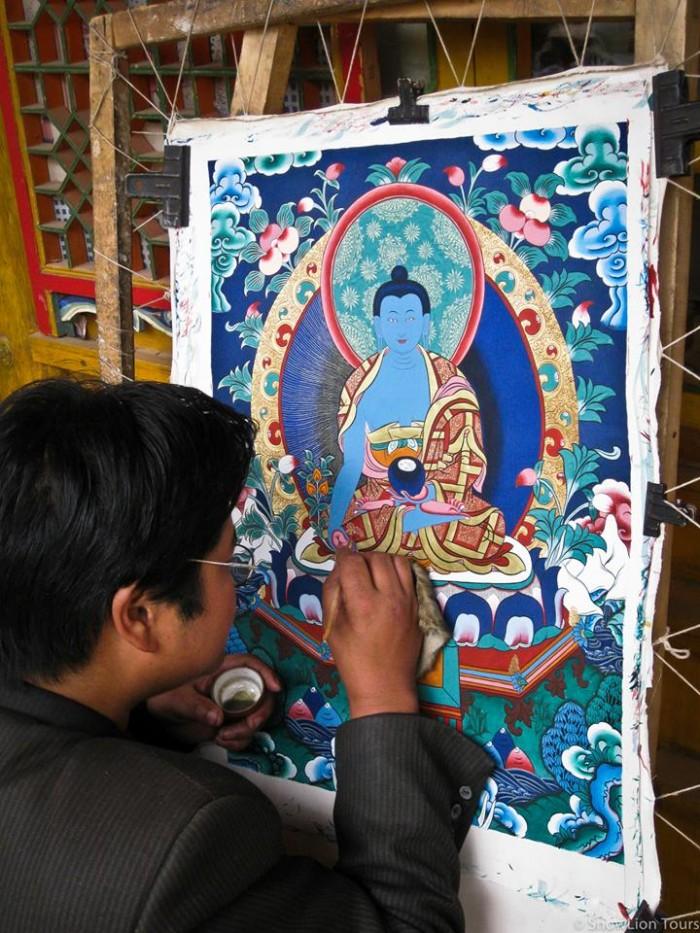 Rebkong Thangka painting