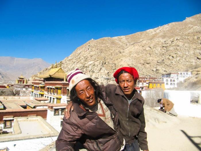 Khampa pilgrims  in Sera Monastery